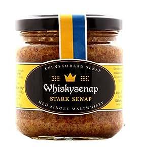 Hovdelikatesser Whisky Senf - extra scharf aus Schweden 185 g (mit 12 Jahre altem Single Malt Whisky)