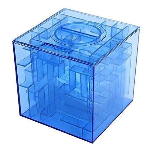eowder Creative Monnaie Argent Maze Banque Puzzle 3D Boîte Cadeau Prix Support de rangement (1pièce)