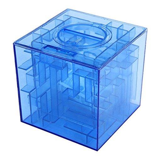 onewiller Geld Labyrinth Münze Bank 3D Puzzle Box Geschenk Halter Preis Ablage