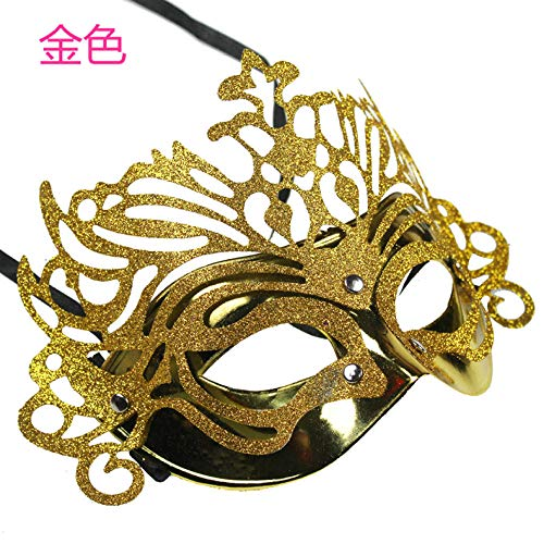 Lustige Männliche Für Erwachsene Kostüm - JRKJ Kronprinzessin Maske Gruselige & Lustige Masken - Perfekt Für Karneval & Halloween - Erwachsenen Kostüm Unisex Für Alle , ClownMännliche Maske, Weibliche Maske @ Gold