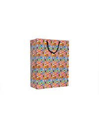 A&A Printed Paper Bag (Pack Of 10) Size -15 * 11 * 5 Inch