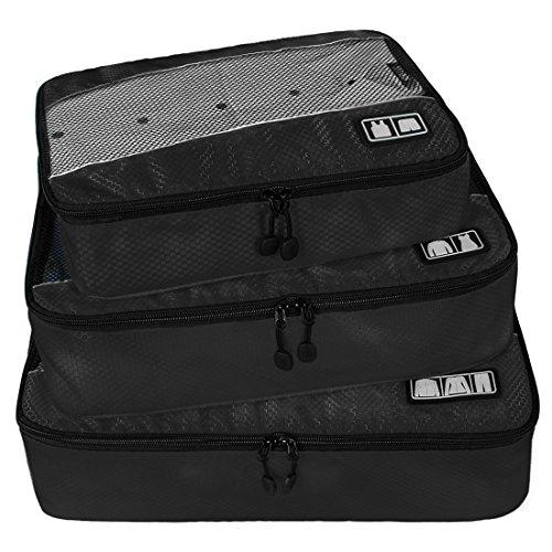 ecosusi-packing-cubes-organizzatore-per-la-valigia-3pc-set-nero