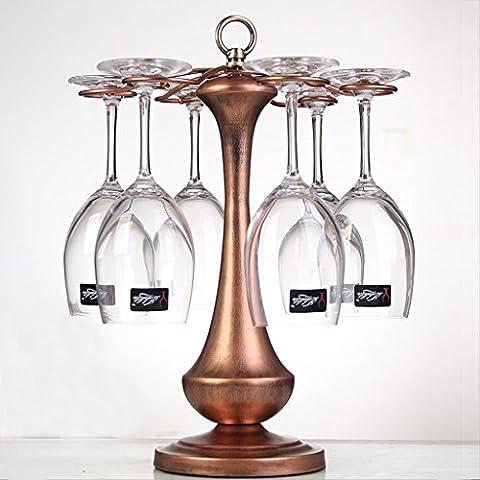 Coppa Europa di stile di vino rosso Holder Wine Rack Gauger Holder tazza del vino Capovolto ornamenti di sospensione ( colore : Brass )