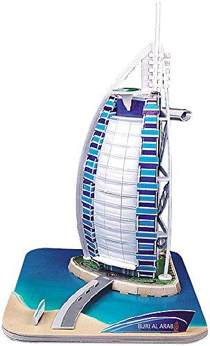 Preisvergleich Produktbild Playtastic Puzzle Bauwerk: Faszinierendes 3D-Puzzle Burj al Arab Dubai, 44 Puzzle-Teile