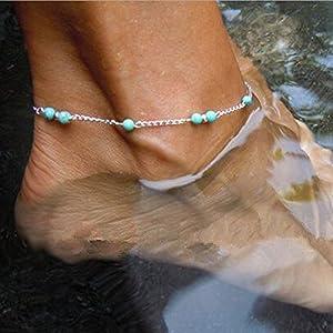Jovono einfaches Perlen-Fußkettchen für Frauen und Mädchen