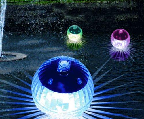 LED Solar Schwimmkugeln 4er Set mit Farbwechsel - Ideal für Teich und Schwimmbad