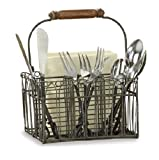 Best Park Designs Napkin Holders - Farm Style Wire Utensil and Napkin Holder Caddy Review