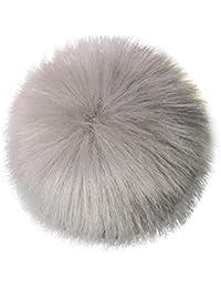 Hut Dekoration Forh DIY Faux Fox Pelz flaumiger Pompom Ball für strickende Hut Strickmütze Männer Frauen Pompons... preisvergleich bei kinderzimmerdekopreise.eu