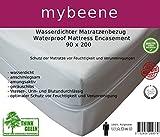 mybeene Matratzenbezug 90x200x18 mit Reißverschluss | Polyester | atmungsaktiv | trocknergeeignet | Unter-Bett | Matratzen-Auflage | Schonbezug |Matratzenhülle | Matratzenüberzug