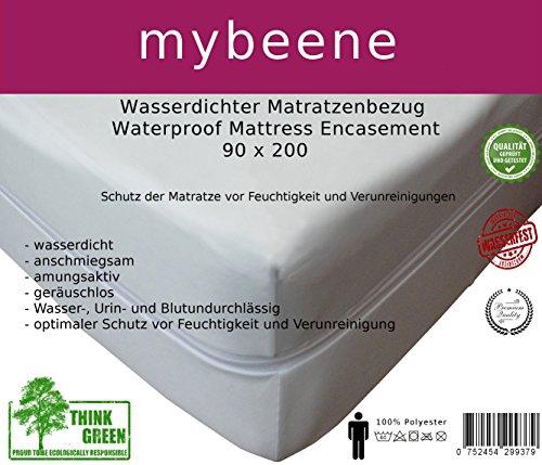 mybeene Matratzenbezug 90x200x17 mit Reißverschluss   Polyester   atmungsaktiv   trocknergeeignet   Unter-Bett   Matratzen-Auflage   Schonbezug  Matratzenhülle   Matratzenüberzug (90x200x17)