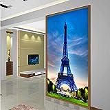 lsweia Mural Papel De Pared Clásico Edificio De La Ciudad Torre Eiffel Sala De Estar Entrada Foto Fondo Papel Tapiz No Tejido Decoración para El Hogar