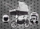 Bebebi | Modell Paris | 3 in 1 Kombikinderwagen Set | Luftreifen | Farbe: Tour Eiffel