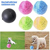 kekai Magic Roller Ball para Perros Electric Ball Dog Toy - Funny Rolling automático y Turning Ball Dog Toy con 4 Bolas de Color Cubierta