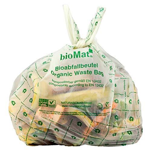 26 unidades  Biomat - Bolsa de basura biodegradable (10 L, con asa, 44 x 50  cm)