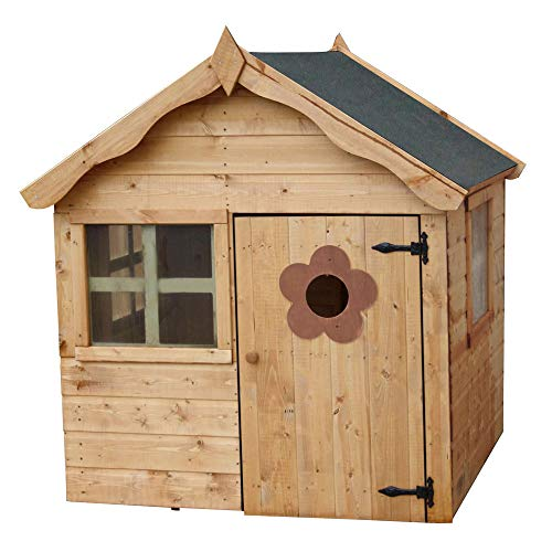 WALTONS EST. 1878 4x4 Wooden Garden Playhouse for kids. Shiplap Construction, dip treated with 10 year Anti Rot Guarantee - Includes Apex Roof, Felt and Floor, Safety Styrene Windows (4 x 4 / 4Ft x 4Ft) 3-5 Day Delivery