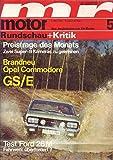 Motor Rundschau + Kritik Nr. 05/1970 06.03.1970 Brandneu Opel Commodore GS/E