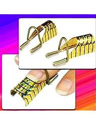 ungfu Mall 10pcs Golden Gel UV Acrílico Nail Art puntas de Extensión Herramienta