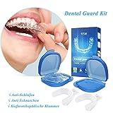 Zahnschutz-Kit, Luckyfine Mundschutz Verhindern effektiv Zähneknirschen, Verbessert Schnarch Schiene und Atmungshilfe, Schützt Zähne, Zahnfleisch & Kiefer