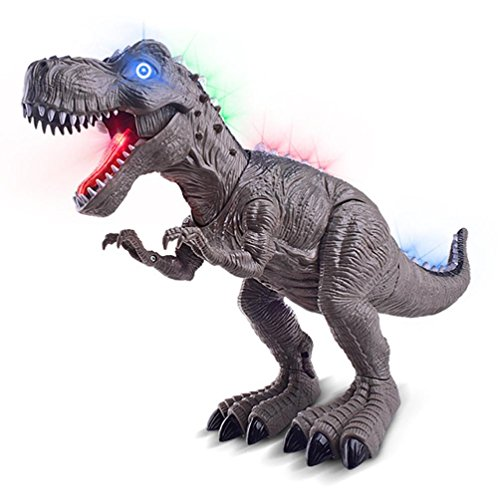 Brüllt Dinosaurier-spielzeug, Das (Mamum Tyrannosaurus Dinosaurier Spielzeug mit Spielunterhaltungsmusik, zu Fuß Spielzeug Tyrannosaurus rex Dinosaurier Klänge und Lichter, die Farbe zu ändern)