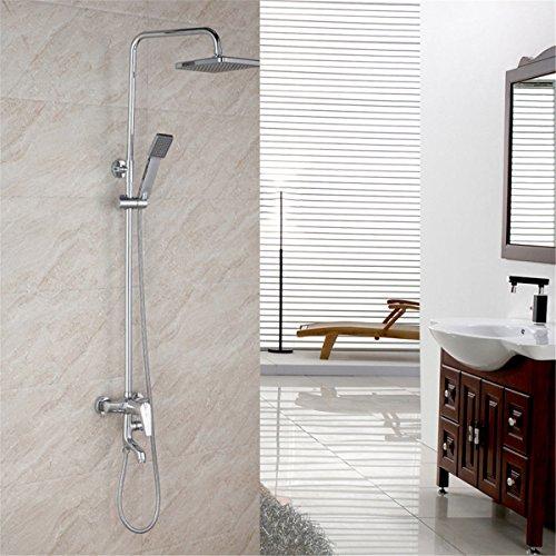 ANNTYE Waschtischarmatur Bad Mischbatterie Badarmatur Waschbecken Regendusche Set Messing Dusche Gerät Düse einstellen Badezimmer Waschtischmischer