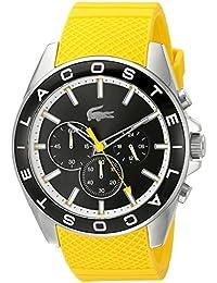 Lacoste 2010852 - Reloj de pulsera hombre, Silicona, color Amarillo