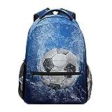 ZZKKO Mochilas de fútbol deportivas para colegio, libros, viajes, senderismo, camping, mochila
