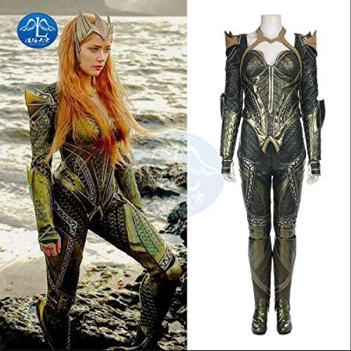 Adegk Mera Cosplay Sport Hohe Elastische Strumpfhose Justice League Cosplay Kostüm Kostüm Halloween Kleidung Requisiten,Adult-XL