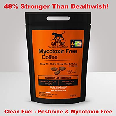 UK & World's Strongest Coffee | 48% > Death Wish/Deathwish Coffee | Arabica + AAA Robusta | Good as Organic – Lab Verified Pesticide + Mycotoxin Free Bulletproof Coffee | Lean Caffeine Ground 227g