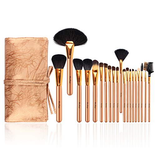 Pinselset 20 stück Unversales Make-Up Pinsel Set Schmink Pinselsets PU Leder Kosmetiktasche Make up Pinsel Set Augenpinsel für Lidschatten Lippenpinsel (Künstler Der Make-up-kontur)