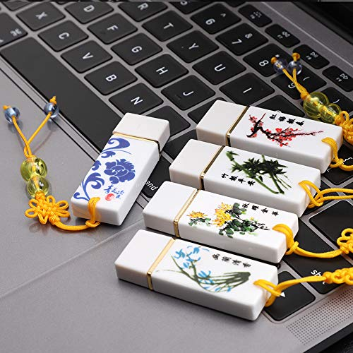Kuizhiren1 USB-Speicherstick, Keramik, 4 GB / 8 GB / 16 GB / 32 GB / 64 GB - Swivel 4 Gb Usb