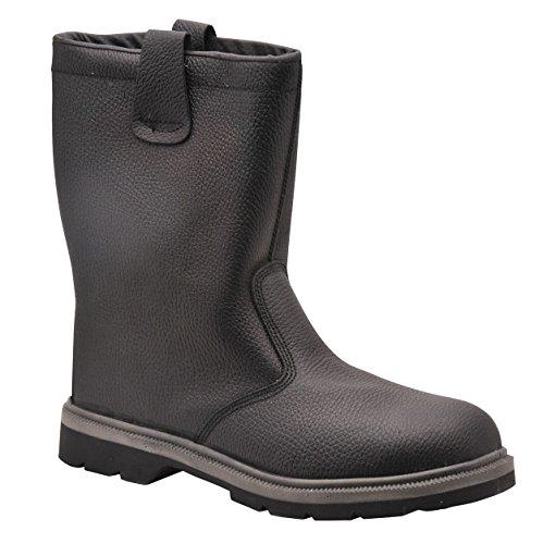Da uomo da lavoro di sicurezza Calzature Rigger–Stivali di sicurezza Steelite pelliccia Black
