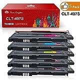 Toner Kingdom 5 Paquet Compatible Cartouche d'encre Pour Samsung CLT-K4072S CLP-320 CLP-320N CLP-320W CLP-320N CLP-325 CLP-325N CLP-325W CLX-3180 CLX-3180FN CLX-3180FW CLX-3185 CLX-3185F CLX-3185FN CLP-3185FW CLX-3185N CLX-3185W Imprimante (2 Noir,1 Cyan,1 Magenta,1 Jaune)