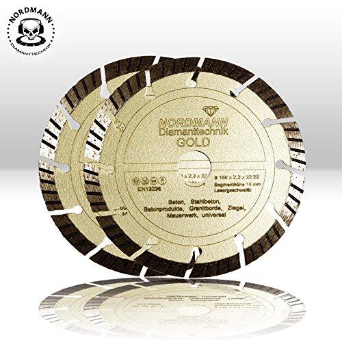 """Preisvergleich Produktbild 2x """"NORDMANN GOLD"""" Ø 150 mm - Diamanttrennscheiben für BAIER BDN Diamantfräse / Schlitzfräse"""
