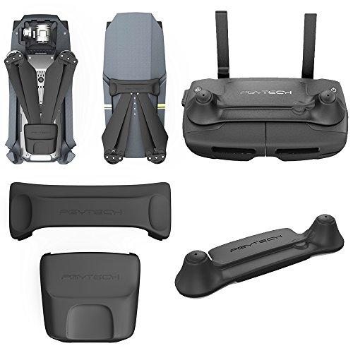 UNIKEL RCmall PGYTECH Remote Silikon Controller Stick Protector + Propeller Halter Schutz Schutz Fixator Kit für DJI Mavic Pro