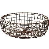 C&S CS Fruit Basket Creative Retro Desktop Storage Basket Home European Wrought Iron Baking Bread Basket Living Room Large Fruit Basket (Size : L)
