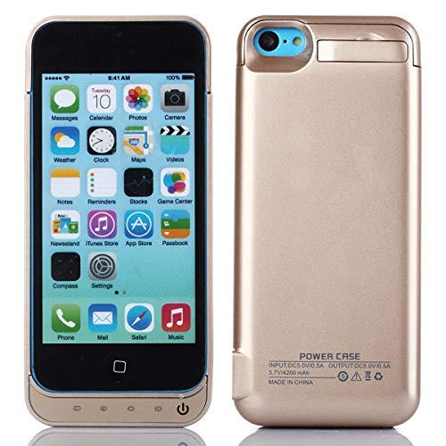 Cover batteria per iphone se 5se 5 5s,4200mah ricaricabile custodia batteria per iphone se 5se 5 5s,esterna protettiva power bank case portatile backup caricabatterie oro