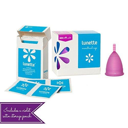Lunette Menstrual Cup - Lunette Starter Kit - Violet Model 2 & Wipe by Lunette