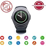 Easypro™ LG K10 (2017) Compatible Bluetooth Smart -Watch Smart_Time_330 -With Activity Trackers And Fitness Band Features (Black)