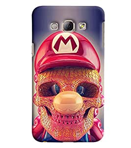 Blue Throat Skeleton Face With Red Hat Printed Designer Back Cover/Case For Samsung Galaxy A8