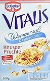 Dr. Oetker Vitalis Weniger Süß Frucht, 6er Pack (6 x 500 g Packung)