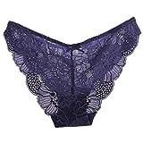 Unterwäsche Dessous lingerie Damen,Yanhoo Heiße Mode Frauen Spitze Schlüpfer Unterwäsche-transparenter Komfort Breathable plus Größe Höschen (M, Blau)