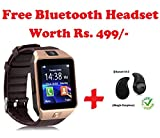 #10: Bluetooth Smart Watch Phone DZ09 With Camera and Sim Card Support With Apps like Facebook and WhatsApp Touch Screen Multilanguage Android/IOS Mobile Phone Wrist Watch Phone with activity trackers and fitness band Compatible With all Android Iphone Samsung Micromax Lenovo Xioami Mi HTC (FREE Bluetooth Headset) - Assorted Color