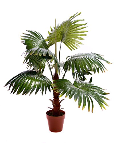(Best Artificial 120 cm 4 ft Fan Palm Tree Tropische Büro Wintergarten Indoor Outdoor Garten Pflanze)