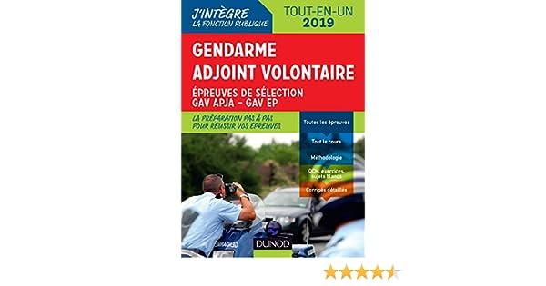 Gendarme Adjoint Volontaire 2019 Epreuves De Sélection Gav Apja Ep Catégorie C Tout En Un J Intègre La Fonction Publique