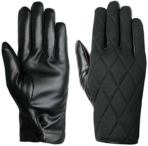 unisex-schwarz-thinsulate-gesteppte-handschuhe-mit-kunstleder-palm-von-easy-off-handschuhe-eu-8-klei