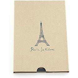 """álbum de scrapbooking, autoadhesivo álbum de fotos, libro de fotos/bloc de dibujo/libro de visitas vintage, regalo para cumpleaños, boda, aniversario, para hombres mujeres padres, """"Torre Eiffel de París"""" beige"""