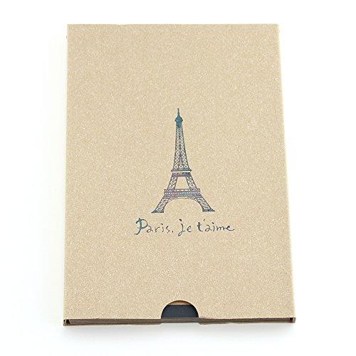 """Album Photo, """"Paris Tour Eiffel"""" Album de Scrapbooking Vintage, Livre Photo de Mémoire pour Bébé, Livre de Croquis/Livre D'or Portable, Cadeau pour Fête des Mères Anniversaire Naissance Mariage, pour Maman Femme Homme, Beige"""