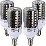 Liqoo® 4 x E14 12W Bombilla LED Lámpara PC Plástico Blanco Cálido 3000K AC 85-265V Ángulo de visión 360° 840 Lumen No Dimmable Sustituye la lámpara Halógena de 65W