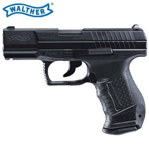 (P18) SET: Walther P99 DAO Blow Back - 6 mm Softair Co2-Pistole inkl. 10 Co2-Kapseln, 5000 BBs, 4komma5® Aufkleber des Herstellers 4komma5