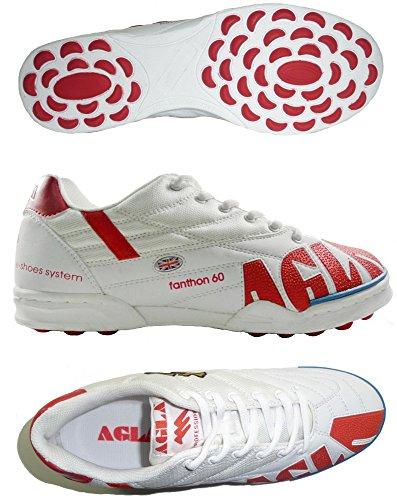 AGLA FANTHON 60 OUTDOOR PROFESSIONAL Chaussures de futsal futsal avec anti-choc Blanc Cassé - UK